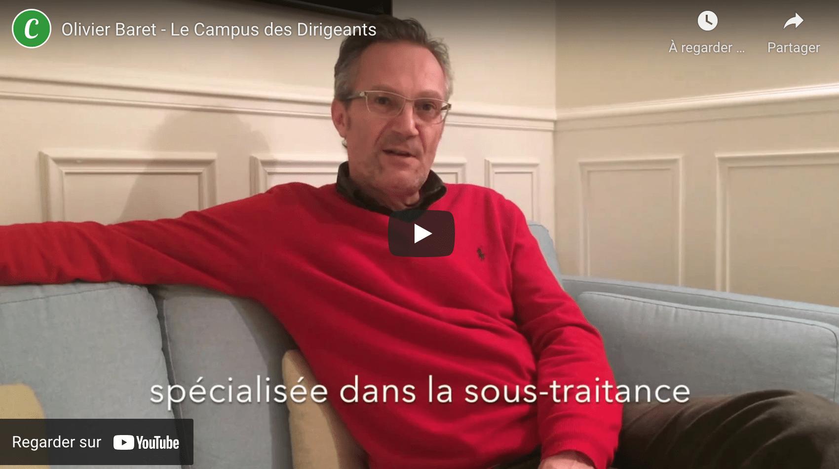 Olivier Baret du Campus des Dirigeants